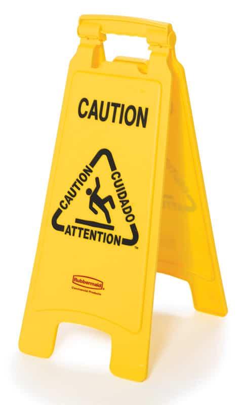 Tweezijdig waarschuwingsbord